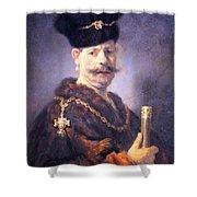 Rembrandt's A Polish Nobleman Shower Curtain
