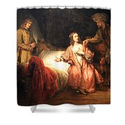 Rembrandt's Joseph Accused By Potiphar's Wife Shower Curtain