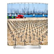 Remembering Heros By Diana Sainz Shower Curtain