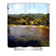 Remembering Mendota Shower Curtain by Karen Wiles