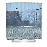 Remembering The Farm Shower Curtain