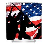 Remembering World War II Shower Curtain by Bob Orsillo
