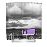 Remembrance Palm Springs First Lady Betty Ford Shower Curtain