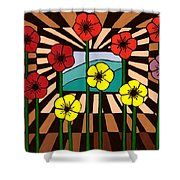 Remembrance Poppy Shower Curtain