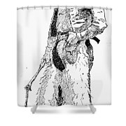 Remington Cowboy, 1887 Shower Curtain