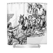 Remington Cowboys, 1887 Shower Curtain