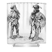 Remington Frontiersmen Shower Curtain