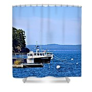 Remington Lobster Boat Shower Curtain
