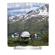 Remote Controlled Helicopter Shower Curtain