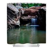 Remote Falls Shower Curtain