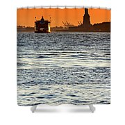 Remote Lady Liberty Shower Curtain