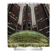 Renaissance Center Detroit Michigan Shower Curtain by Nicholas  Grunas