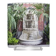 Renaissance Style Water Fountain Shower Curtain