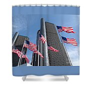 Rencen And Flags Shower Curtain