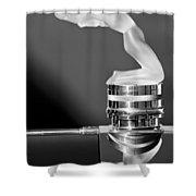 Rene Lalique - Chrysis - 1937 Rolls-royce Phantom IIi Aero Coupe Hood Ornament Shower Curtain
