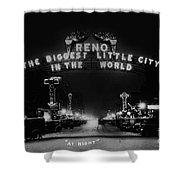 Reno Nevada The Biggest Little City In The World. The Arch Spans Virginia Street Circa 1936 Shower Curtain