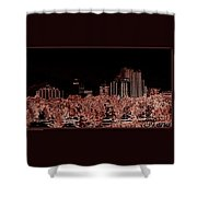 Reno Night Life Shower Curtain