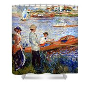 Renoir's Oarsmen At Chatou Shower Curtain