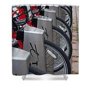 Rental Bikes Shower Curtain