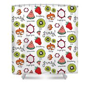 Repeat Print - Fruits Shower Curtain