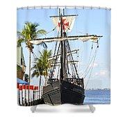 Replica Of The Christopher Columbus Ship Pinta Shower Curtain