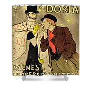 Reproduction Of A Poster Advertising Mothu And Doria In Impressionist Scenes Shower Curtain