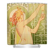 Reproduction Of A Poster Advertising 'robette Absinthe' Shower Curtain