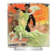 Reproduction Of A Poster Advertising The 1896 Carnival At The Theatre De L'opera Shower Curtain