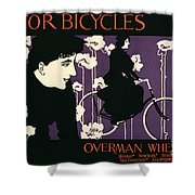 Reproduction Of A Poster Advertising Victor Bicycles Shower Curtain