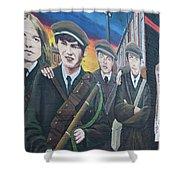 Republican Murals Against British Rule Shower Curtain