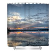 Reservoir Sunset Shower Curtain
