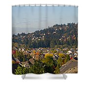 Residential Homes In Suburban North America Shower Curtain