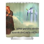 Resist The Devil Shower Curtain