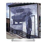 Derry Mural Resistance Shower Curtain