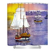 Resolution In Cook Inlet Shower Curtain