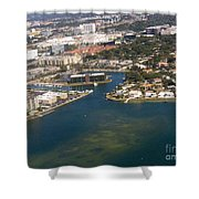 Resort City In The South Shower Curtain