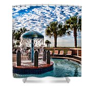 Resort Pool Shower Curtain