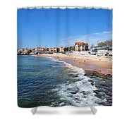 Resort Town Of Estoril In Portugal Shower Curtain