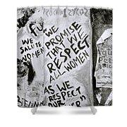 Respect Women Graffiti Shower Curtain
