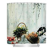 Rest From Garden Chores Shower Curtain