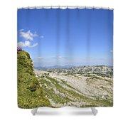 Rest In Beautiful Mountain Landscape Shower Curtain by Matthias Hauser