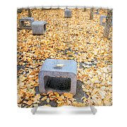 rest in fall IV Shower Curtain