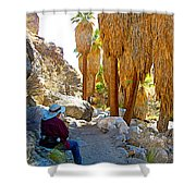 Rest Stop In Andreas Canyon Trail In Indian Canyons-ca Shower Curtain