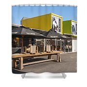 Restart Containers Shower Curtain