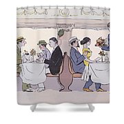 Restaurant Car In The Paris To Nice Train Shower Curtain