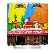 Restaurant In Gateway To The Amazon River In Iquitos-peru Shower Curtain