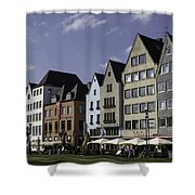 Restaurants And Brewpubs Along The Rhine Cologne Shower Curtain