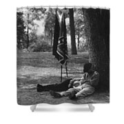 Resting At Gettysburg Shower Curtain