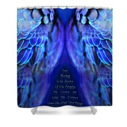 Psalm 91 Wings Shower Curtain
