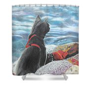 Resting By The Shore Shower Curtain